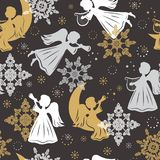 Christmas seamless pattern. Royalty Free Stock Photography