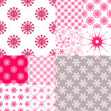 10 Seamless pattern with snowflakes. Big set seamless pattern with snowflakes, vector eps 10 Stock Images