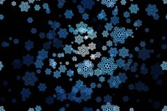 Seamless pattern of snowflakes on a black Stock Image