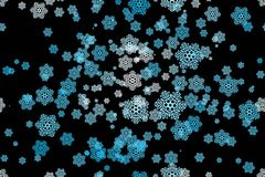 Seamless pattern of snowflakes on a black Stock Images