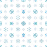 Seamless pattern with snowflakes Royalty Free Stock Photos