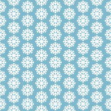 Seamless pattern with snowflakes on blue background. Seamless pattern with white snowflakes on blue background Royalty Free Stock Image