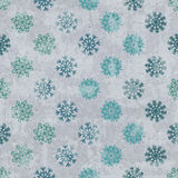 Seamless pattern with snowflakes Stock Image