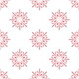 Seamless pattern of snowflakes Royalty Free Stock Photography