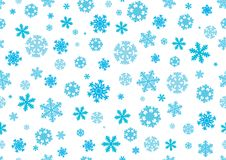 Seamless pattern. Snowflakes, Christmas background. Vector Royalty Free Illustration