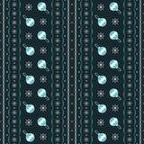 Seamless pattern of snowflakes and Christmas balls Stock Photo