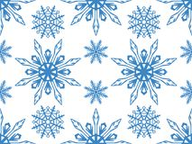 Seamless pattern of snowflakes. Christmas ornament. The festive mood Stock Photo