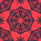 Seamless pattern of snowflakes. Christmas ornament. The festive mood Royalty Free Stock Photography