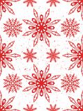 Seamless pattern of snowflakes. Christmas ornament. The festive mood Stock Photos