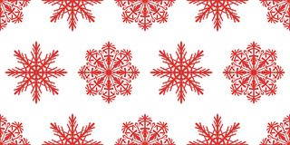 Seamless pattern of snowflakes. Christmas ornament. The festive mood Royalty Free Stock Photos