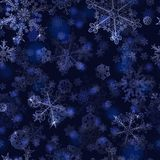Seamless pattern of snowflakes Royalty Free Stock Image