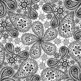 Seamless pattern with snowflakes and cucumbers Stock Images