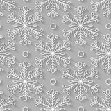 Seamless pattern, snowflakes. 3D, snow, winter, Happy New Year, Royalty Free Stock Photos