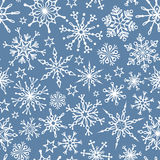 Seamless pattern of snowflakes Royalty Free Stock Images