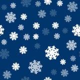 Seamless Pattern Snowflakes Endless Background. Stock Photo