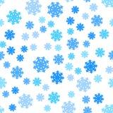Seamless Pattern Snowflakes Endless Background. Stock Photos
