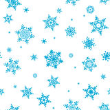 Seamless pattern of snowflakes. EPS 10 Royalty Free Stock Image