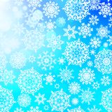 Seamless pattern with snowflakes. EPS 10 Stock Photo