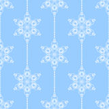 Seamless pattern with snowflakes Royalty Free Stock Photography