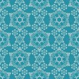 Seamless pattern with snowflakes Royalty Free Stock Photos