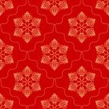 Seamless pattern with snowflakes Stock Photos