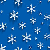 Seamless  pattern with snowflakes Royalty Free Stock Photo