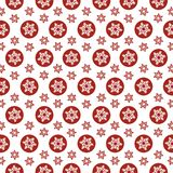 Seamless pattern Snowflakes Red on a white background vector illustration