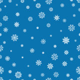 Seamless pattern with snowflakes and snow. Retro wallpaper decoration. Vector holiday ornament christmas illustration Stock Photo