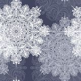 Seamless Pattern with Snowflakes (Vector) Royalty Free Stock Photography