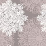 Seamless Pattern with Snowflakes (Vector) Stock Photography