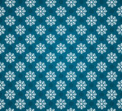 Seamless pattern with snowflakes. Vector seamless pattern with snowflakes or blue background. Blue and white christmas seamless texture. For web and print design Royalty Free Stock Image