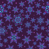 Seamless  pattern with snowflakes, Royalty Free Stock Photography