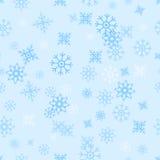 Seamless Pattern Snowflakes Stock Image