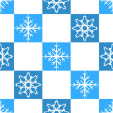 Seamless pattern Snowflakes Stock Photography