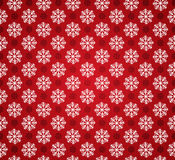 Seamless pattern with snowflakes. Vector seamless pattern with snowflakes or red background. Red and white christmas seamless texture. For web and print design Stock Images