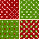 Seamless pattern with snowflakes. Vector set. Royalty Free Stock Photos