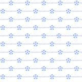 Seamless Pattern. Snowflakes on White Background. Royalty Free Stock Photo