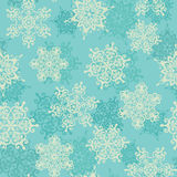 Seamless pattern with snowflakes. Winter background. Stock Photos