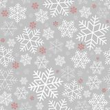 Seamless pattern with snowflakes Winter background on New Year and Christmas Pattern for greeting cards royalty free illustration