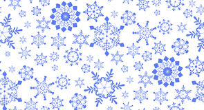 Seamless pattern with snowflakes for winter holidays design Royalty Free Stock Photography