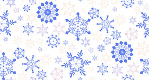 Seamless pattern with  snowflakes for winter holidays design Stock Photo