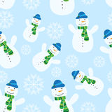 Seamless pattern with snowman Royalty Free Stock Photos
