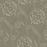 Seamless pattern with soccer ball 17. Seamless pattern (texture) with football balls. Soccer infinite background. Suitable for design: cloth, web, wallpaper Stock Photo