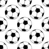 Seamless pattern of soccer balls Royalty Free Stock Images
