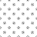 Seamless pattern with soccer balls on white background Stock Image