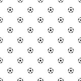 Seamless pattern soccer/Football balls. Royalty Free Stock Photography