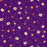 Seamless Pattern with Social Media Network Icons. stock illustration