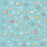 Seamless pattern social network. Stock Images