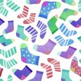 Seamless pattern with socks stock illustration