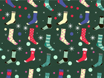 Seamless pattern socks. vector illustration. Royalty Free Stock Images